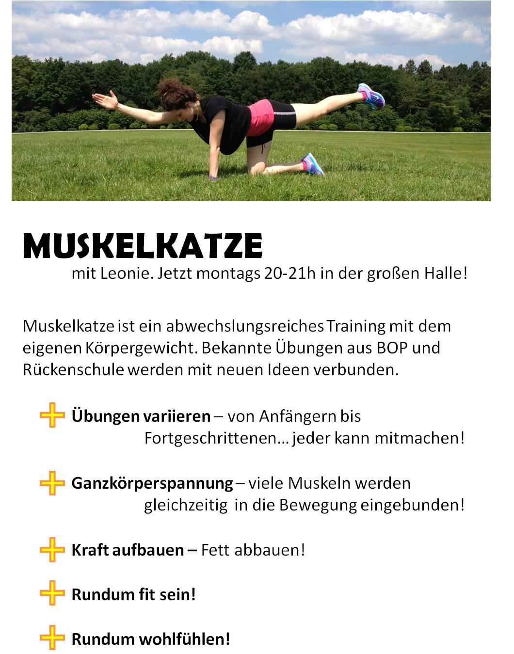 Muskelkatze mit Leonie Fischer
